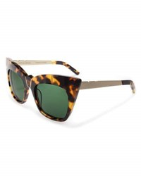 Pared Eyewear Kohl And Kaftans Cat Eye Sunglasses Tortoise Gold