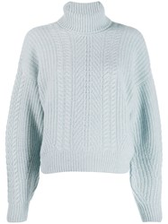 Le Kasha Pontavin Cable Knit Jumper Blue