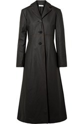 Beaufille Olympus Coated Cotton Blend Trench Coat Black Gbp