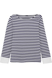 J.Crew Striped Cotton Top Navy