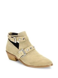 Rebecca Minkoff Abigail Leather Ankle Boots Taupe