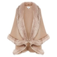 Coast Kate Faux Fur Cape Blush