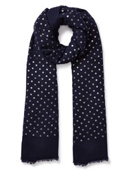 East Wool Spotted Scarf Blue