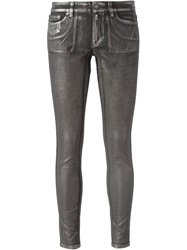 Michael Michael Kors Coated Skinny Jeans Grey