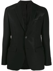 Fendi Shiny Single Breasted Blazer Black