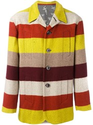 Jean Paul Gaultier Vintage Striped Jacket Yellow And Orange