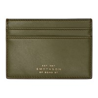 Smythson Green Wigmore Card Holder