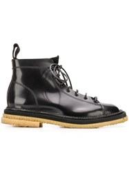 Buttero Stitch Detailed Boots Black