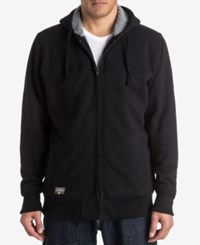 Quiksilver Waterman Full Zip Jacket With Faux Fur Lined Hood Black