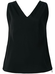 Maison Martin Margiela Mm6 Sleeveless V Neck Top Black