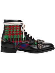 Gucci Queercore Brogue Boot Leather Metal 10.5 Black