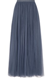 Needle And Thread Tulle Maxi Skirt Storm Blue