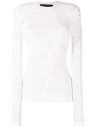 Versace Slim Fit Knitted Top White