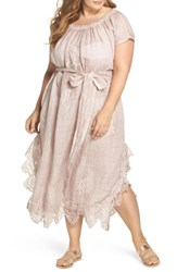 Muche Et Muchette Plus Size Women's Daisy Linen Cover Up Dress Dusty Pink