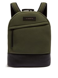 Want Les Essentiels Kastrup Leather Trimmed Neoprene Backpack Khaki