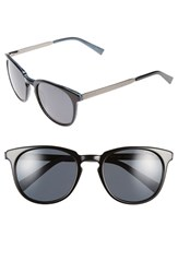 Men's Ted Baker London 53Mm Round Sunglasses Black Horn