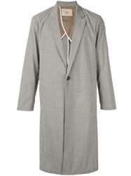 Loveless Check Single Breasted Coat Grey