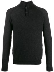 Transit Buttoned Neck Sweater Black