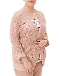 Junarose Crocheted Lace Cardigan Misty Rose