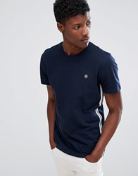 Jack And Jones Core T Shirt With Side Tape Chest Branding Sky Captain Navy