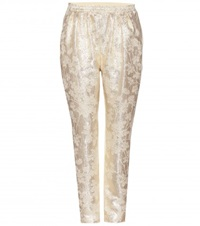 Stella Mccartney Brocade Track Pants Gold