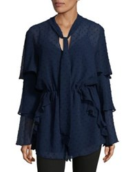 The Fifth Label Freya Long Sleeve Romper Navy