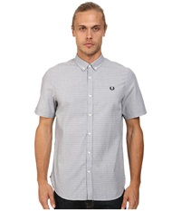 Fred Perry Polka Dot Shirt Industrial Grey Men's Short Sleeve Button Up Gray