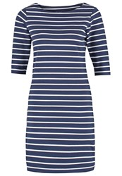Gant Jersey Dress Marine White Dark Blue