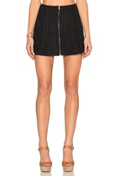 Lucca Couture Stripe Mini Skirt Black