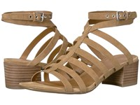 Franco Sarto Finesse Toasted Barley Lux Brushed Suede Women's Sandals Brown