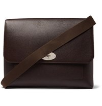 Mulberry East West Anthony Padlock Pebble Grain Leather Messenger Bag Brown