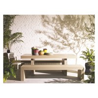 Habitat Tico 8 Seater Dining Set With Tico Ecru Table And 2 Tico Ecru Benches