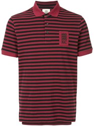 Kent And Curwen Striped Polo Shirt Red