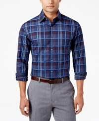 Tasso Elba Men's Classic Fit Plaid Shirt Only At Macy's Navy Combo
