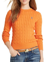 Polo Ralph Lauren Cotton Crewneck Sweater Orange
