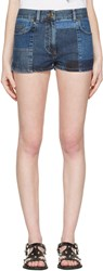 Mcq By Alexander Mcqueen Blue Denim 70S Hotpant Shorts