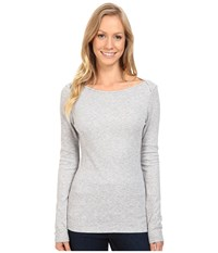 The North Face Long Sleeve Ez Ribbed Top Tnf Light Grey Heather Women's Long Sleeve Pullover Gray