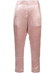 Ann Demeulemeester Tailored Satin Trousers Pink