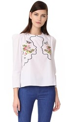 Vivetta Puff Sleeve Blouse White