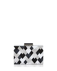 Sondra Roberts Resin Box Clutch Black White