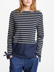Great Plains Take A Break Jersey Top Classic Navy Optic White