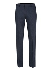 Topman Blue Wool Rich Skinny Fit Suit Pants