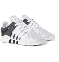 Adidas Originals Eqt Support Adv Rubber And Faux Suede Trimmed Mesh Sneakers Light Gray