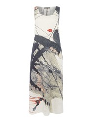 Crea Concept Abstract Print Sleevelss Dress Multi Coloured Multi Coloured