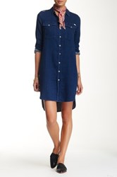 Mother The Cadet Shirt Dress Blue