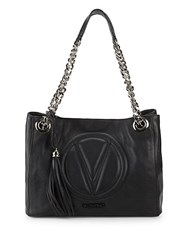 Valentino By Mario Valentino Luisa Leather Chain Tote Black