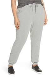 Caslon Plus Size Jogger Pants Grey Heather