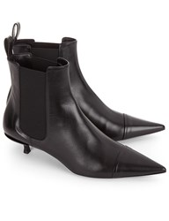 Jil Sander Black Dixie Pointed Kitten Heel Boots
