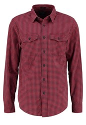 Abercrombie And Fitch Shirt Red Black Gingham