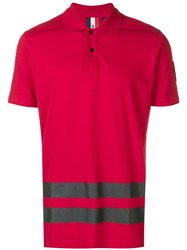 Rossignol Stripes Detail Polo Shirt Red